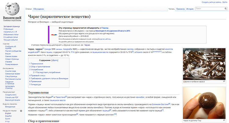 Rosja Blokuje Wikipedię za Artykuł o Marihuanie, kanabis.info